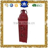 Fashionable design red moroccan metal candle lantern