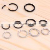 Fashion titanium anodized segment ring nose hoop body piercing jewelry