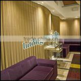 Chain link decorative mesh curtain in hotel