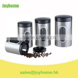 silver metal flour coffee tea sugar film canisters sets