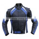 Motorcycle Leather Jacket, Motorcycle Racing Jacket, Blue Motorcycle Leather Jacket, Motorbike Jacket
