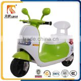 SGS approved double motor kids battery motorcycle with safe backrest