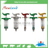 NL205 veterinary animal plastic steel syringes without dose nut