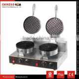 High Quality Electric 2- Plate Commercial Waffle Maker Baker Snack Machine for Hot Sell