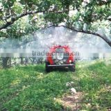self propelled garden orchard vineyard high press boom tank air blast sprayer vehicle 1000L with itlay pump and a/c cabin