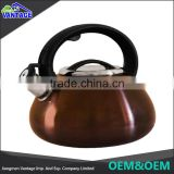 High quality best stainless steel whistling kettle tea set for wholesale