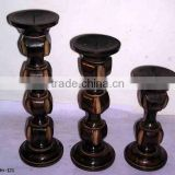 Home Decorative Wooden Candle Holders,Mango Wood Candle Holders,Designer Wooden Candle Stand,Wooden Candle Stands