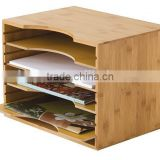 Popular style bamboo file box document holder