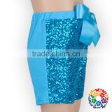 Girls Blue Sparkle Sequin girls birthday sequin shorts