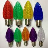 Decorative C7 0.5w E12 colorful led candle light lamp of christmas decoration