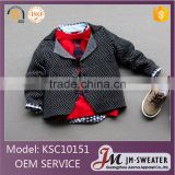 Hiah quality baby kids sweater coat fashion raised grain knitting boys casual cotton blazer