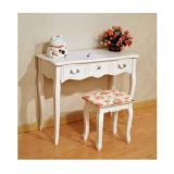 Antique euro style dressing table desk with one drawer