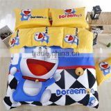 Latest 100% cotton Doraemon Bedding set Good quality bedding set with wholesale price Cartoon queen bedding set for kids