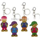 Doll Rubber Design Boy Keychain Carabiner Key Chain Rubber Keyring for Promotional Key Ring