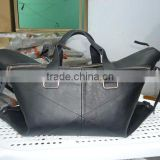 Genuine cow italian leather travel bag
