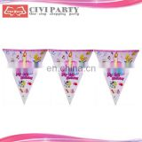 christmas decoration paper felt pennant string flags