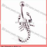 316L stainless steel scorpion design belly rings navel piercing body jewelry