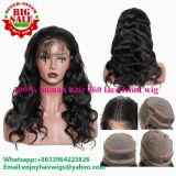 Factory direct wholesale 100% human hair 360 lace front wig body wave hair brazilian virgin hair