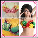 Aidocrystal Wholesale Latest Womens Outfit Punk Spike Studs Rivet Underwire Bra
