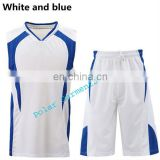 White and Blue Uniform Basketball
