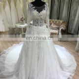 2017 suzhou new wedding dress bridal gown long sleeve