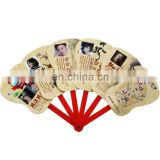 tailor making logo photo printable white paper folding fans