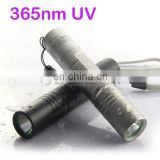 LED Ultraviolet 5W UV 365nm Flashlight Mini Straight UV Flashlight