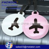 Hot selling promotional gifts colorful PVC luggage tag for traveling