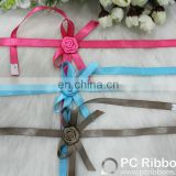 Decoration rose satin ribbon bow