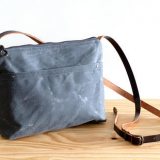 waxed canvas bag with shoulder from China factory