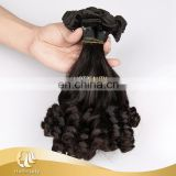 Full Cuticle Human Hair Without Short Hair Inside, Double Drawn Funmi Human Hair Extension