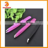 2 in 1 Eyebrow Tweezer and Comb Body Tool Slanted Tweezer