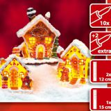 X\'mas house with 10 light set Customized european-style creative Christmas decoration house LED night light simulation cookie house resin crafts decoration