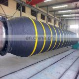 Flexible floating dredge pipe rubber hoses and floating body for mining