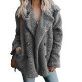 Cropped Womens Winter Plush Coats Trendy Clothes For Women