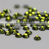 Top quality Wholesale army green flatback non hotfix tape rhinestones for weddingdress
