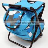 portable cooler stool / foldable cooler chair