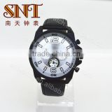 Sport watch leather quartz watch for men