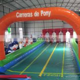 2014 Newest 4 LINE Inflatable horse runway Sports Games inflatable race track for kids and adults
