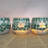2014 china manufacturing mosaic glass candle holder home decoration&wedding centerpieces