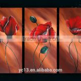 Beautiful Flower 100% Handmade Group Oil Painting With Canvas, Oil, Acrylic Material For Decoration