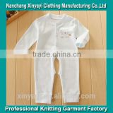 Soft organic fabric baby bodysuit/ baby romper/ baby toddler clothing from garment factory