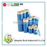 Pretaped masking film hot blue film