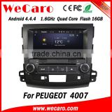Wecaro Factory 1080P for peugeot 4007 radio cd bluetooth