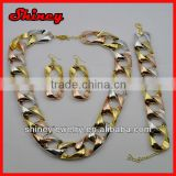 2014 fashion new chain design jewelry sets lead and nickel safe alloy fashion jewelry sets