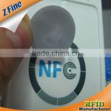 Customized 20/25/30mm diameter NFC Tag/PVC Tag/RFID Tag /13.56MHz Rewritable type 2 ntag203 nfc tag