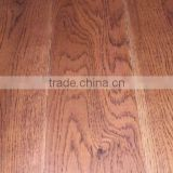 red stained hand scraped oak hardwood flooring
