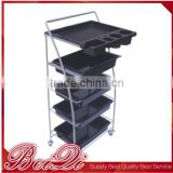 Professional cosmetic good quality plastic hair salon trolley cart