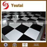 portable black and white chequred mirror dance floor
