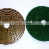 4''/100mm wet diamond hand polishing pads for granite 50#-3000# with hook and loop backing